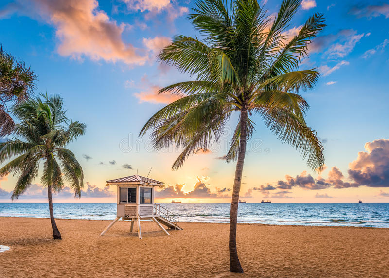 пляж Форт Лаудердале стоковая фотография rf