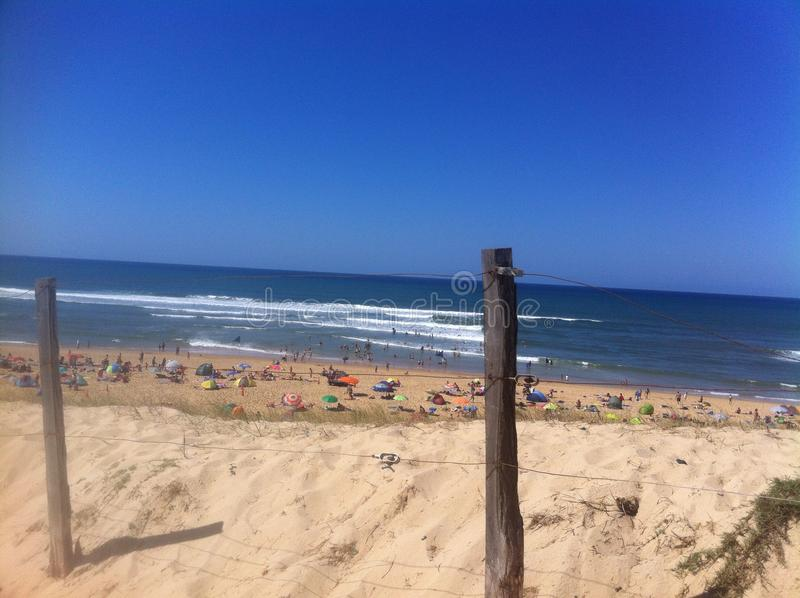 Пляж Франции стоковое фото rf