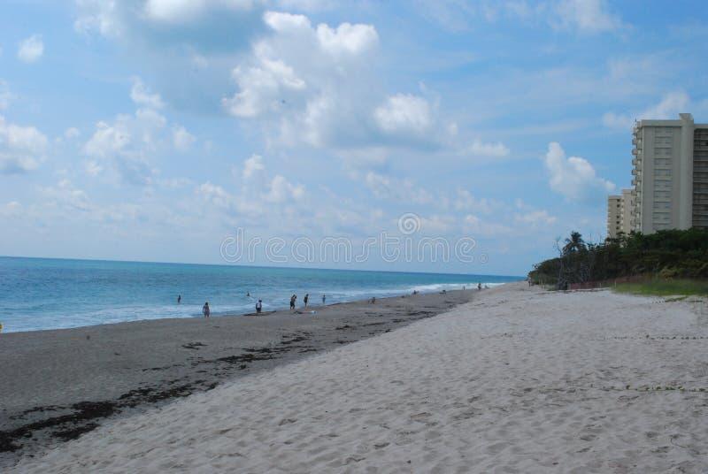 Пляж Флорида Юпитера стоковая фотография