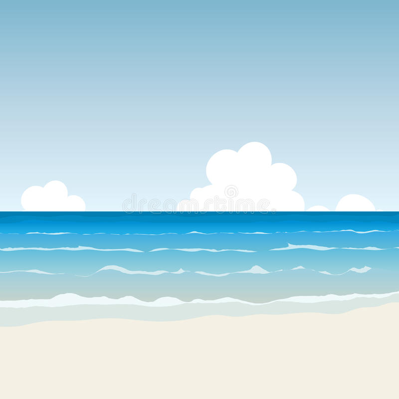 Пляж шаржа иллюстрация штока