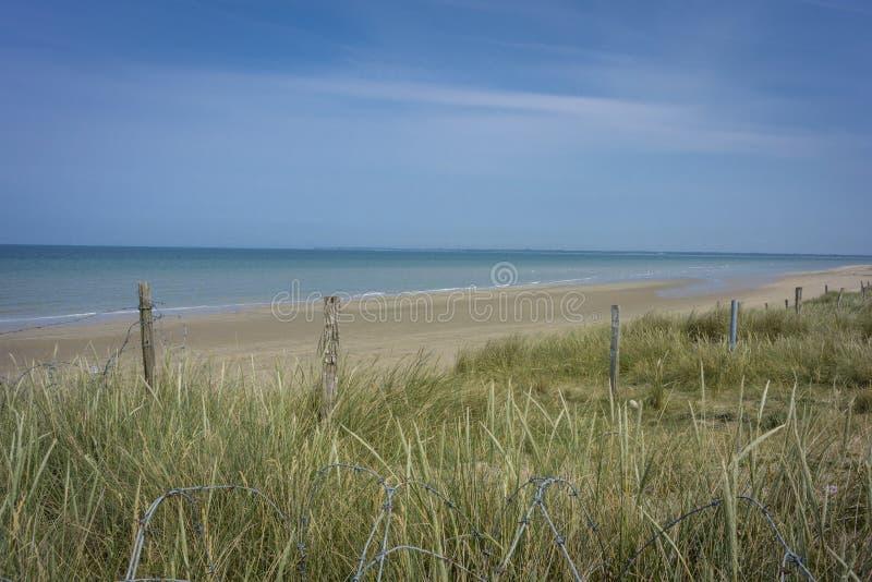 Пляж Юты, Нормандия, Франция стоковые фотографии rf