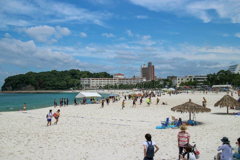 Пляж Японии Shirarahama стоковая фотография rf