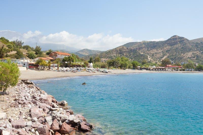 Пляж Agia Galini стоковое изображение