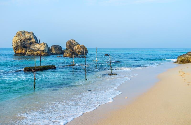 Пляж Ahangama стоковые фото