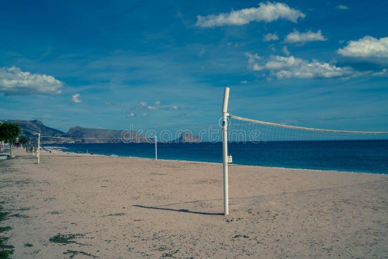 Пляж Altea увял стоковое фото