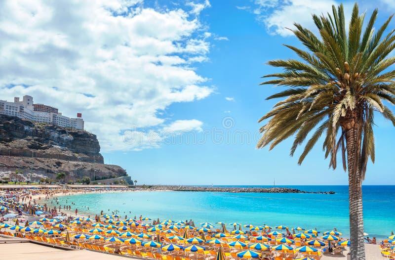 Пляж Amadores Gran Canaria, Канарские острова, Испания стоковое изображение