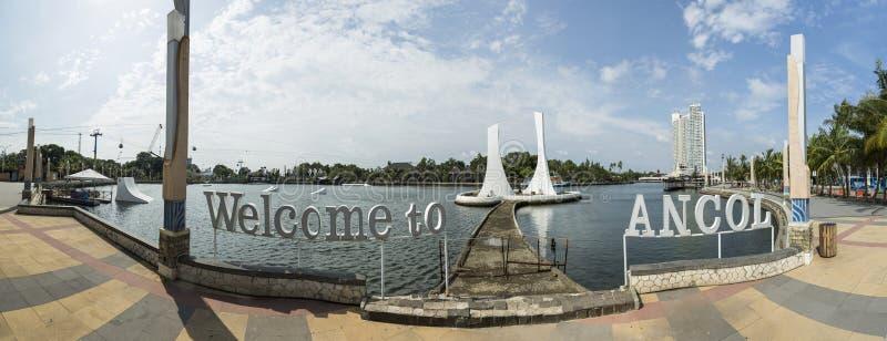 Пляж Ancol в Джакарте стоковые изображения rf