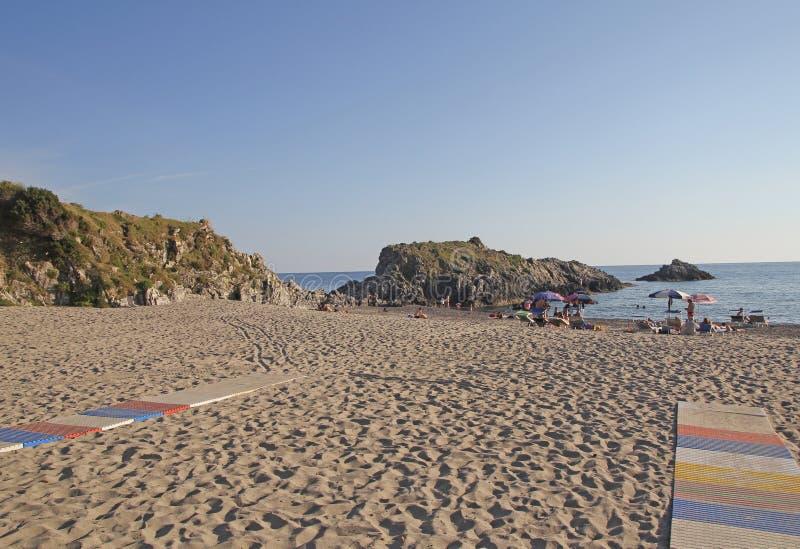 Пляж Ascea стоковая фотография rf
