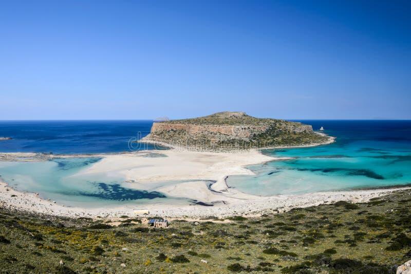 Пляж Balos в западном Крите, Греции стоковые фото