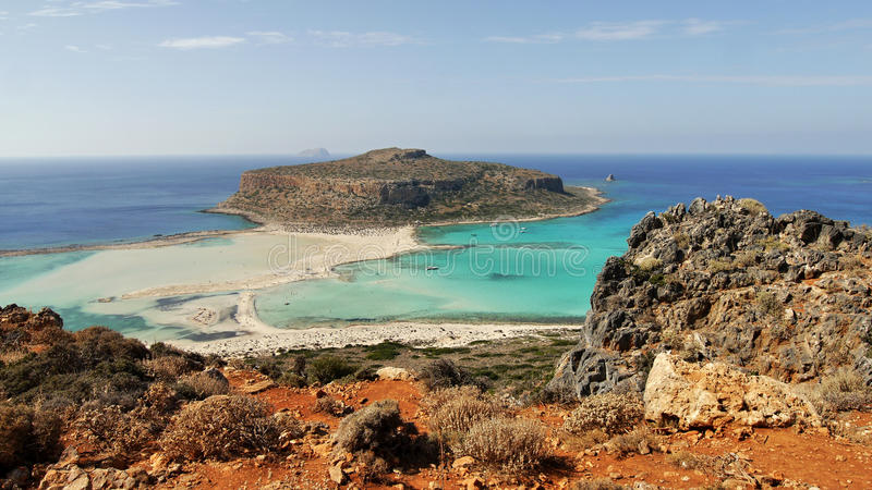 Пляж Balos стоковое фото