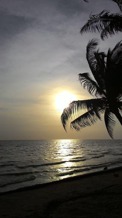 Пляж Bangsean стоковые фотографии rf