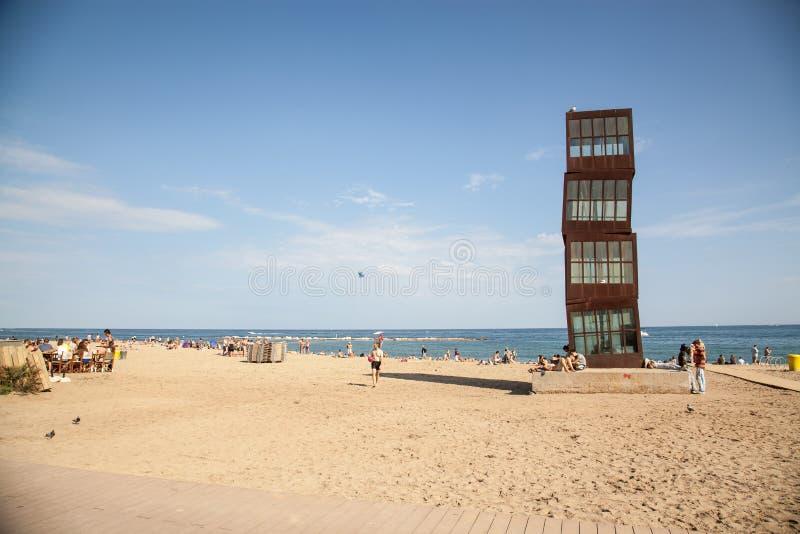 Пляж Barceloneta стоковая фотография