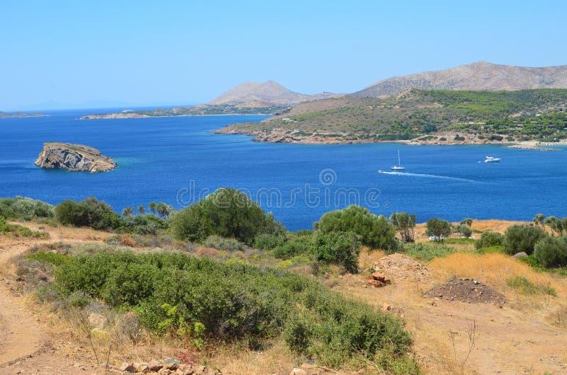Пляж Bay-1 Aegeon стоковые фотографии rf
