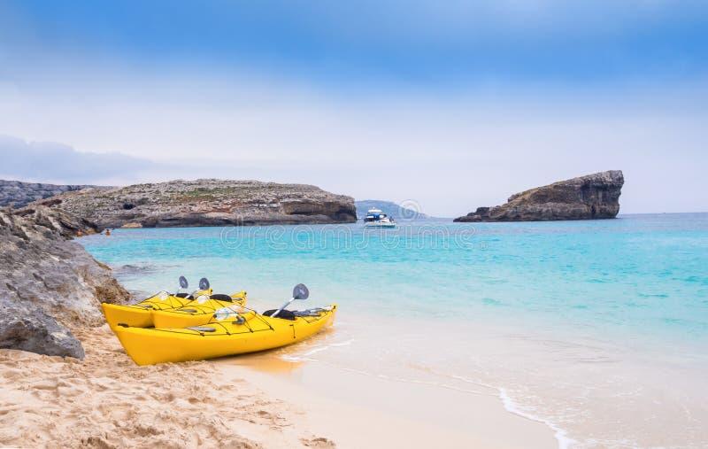 Пляж Bomino, Мальта стоковое фото