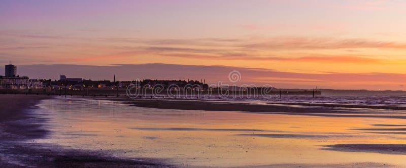 Пляж Bridlington южный стоковое изображение