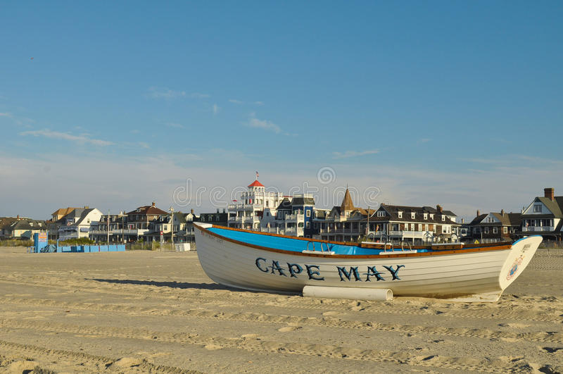 Пляж Cape May стоковое изображение rf