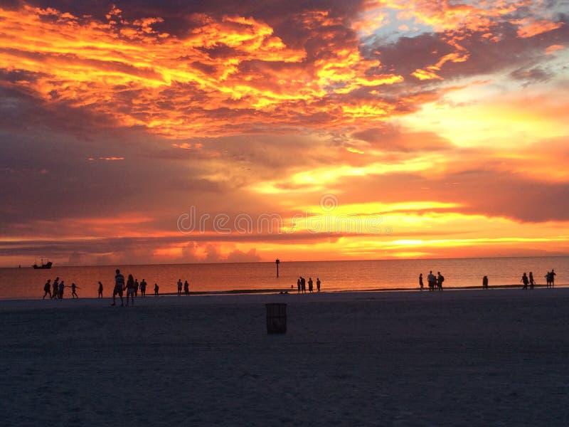 Пляж Clearwater стоковые изображения