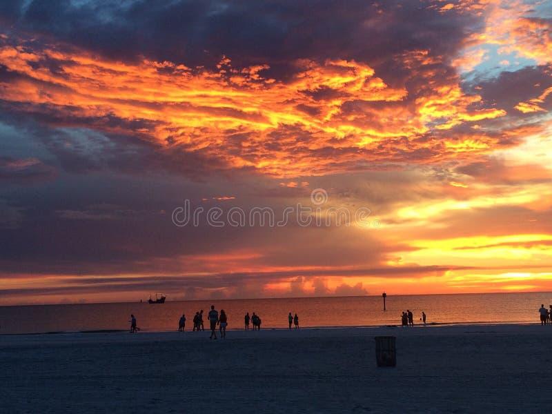 Пляж Clearwater стоковое изображение rf