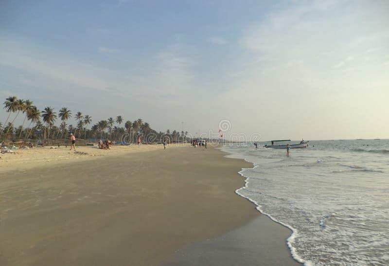 Пляж Colva, Goa, Индия стоковое изображение rf