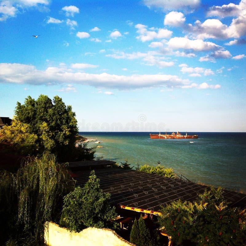 Пляж Costinesti стоковая фотография