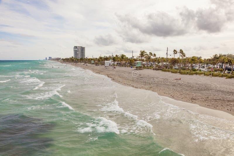 Пляж Dania, Флорида стоковые изображения rf