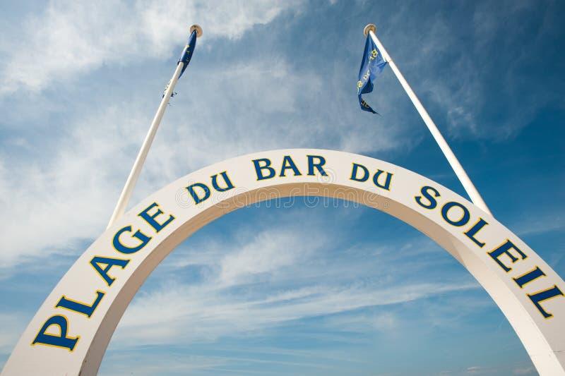 Пляж Deauville стоковые изображения rf
