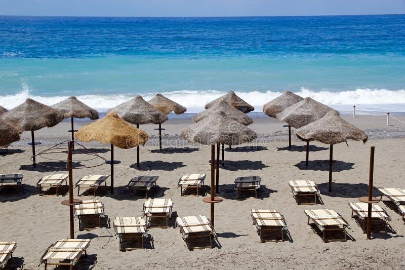 Пляж di camerota Марины, Италия стоковое изображение