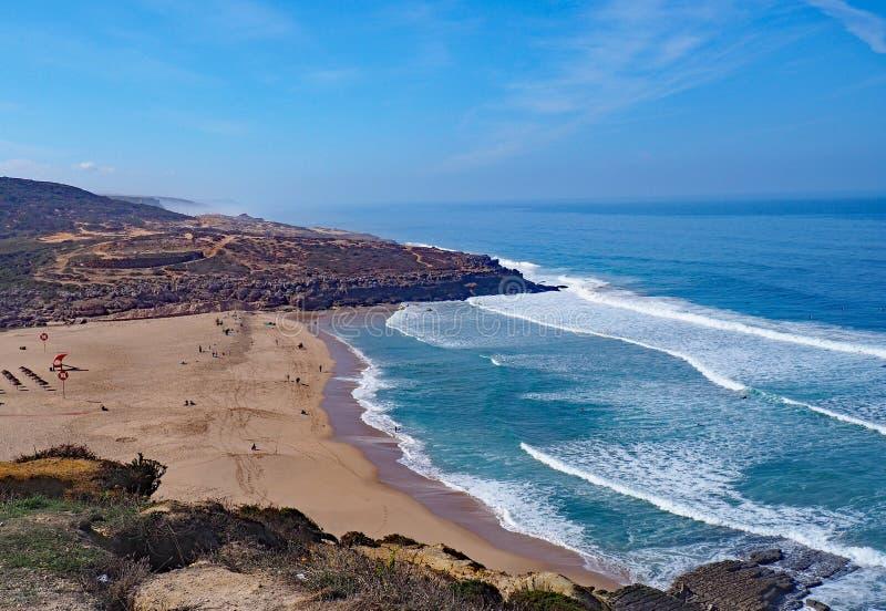Пляж, Ericeira, Португалия стоковые фотографии rf