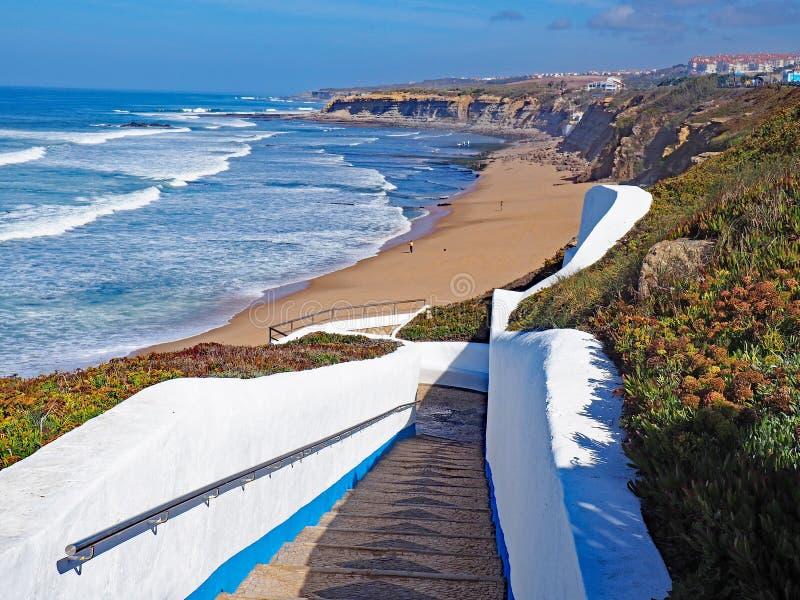 Пляж, Ericeira, Португалия стоковое изображение rf