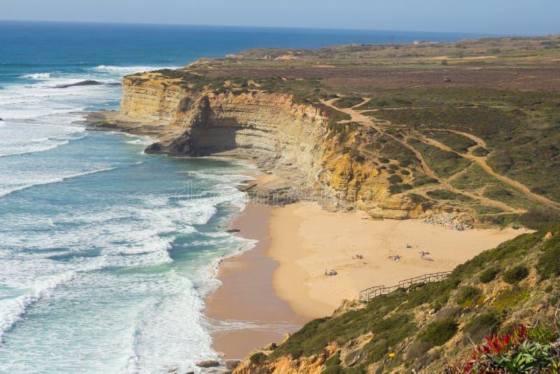 Пляж Ericeira стоковые фотографии rf