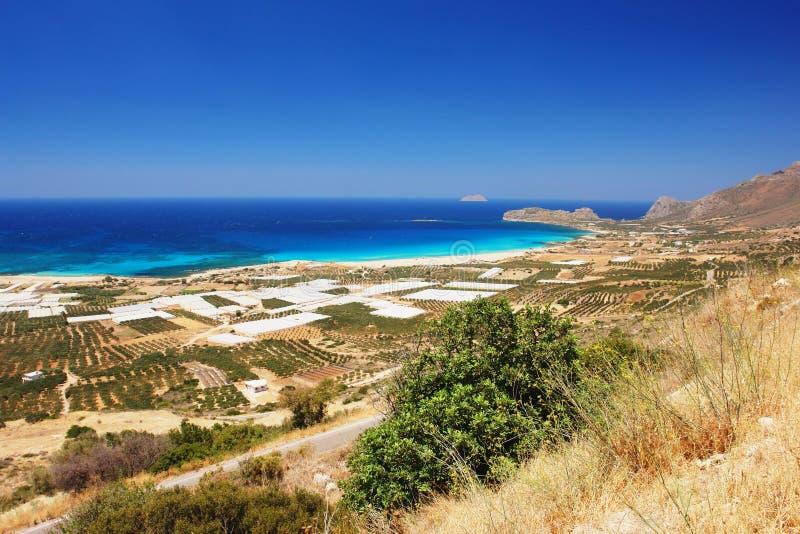 Пляж Falassarna, Крит стоковое фото