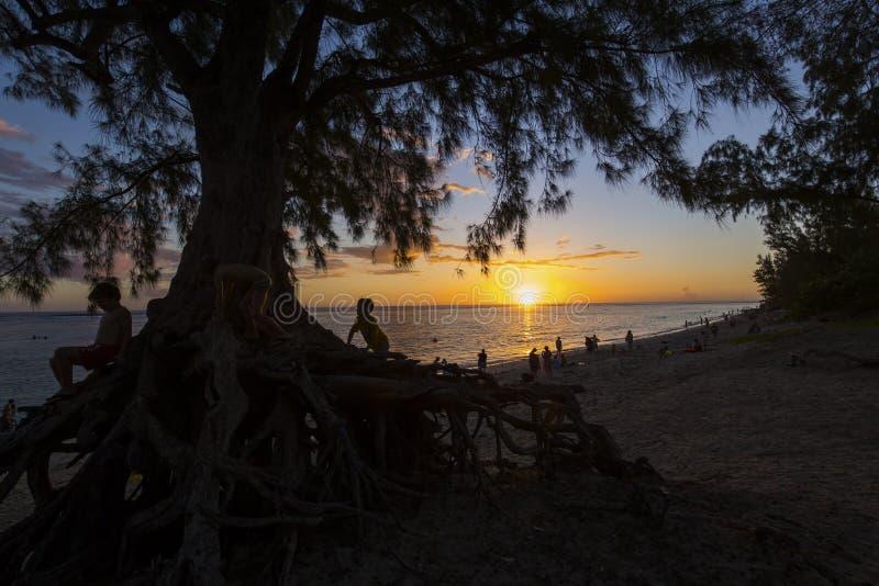 Пляж Gilles Святого, Ла Остров Реюньон, Франция стоковые фото