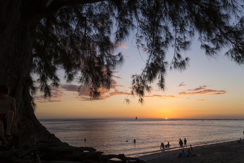 Пляж Gilles Святого, Ла Остров Реюньон, Франция стоковая фотография