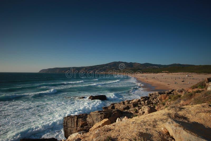 Пляж Guincho cascais Португалия стоковое изображение rf