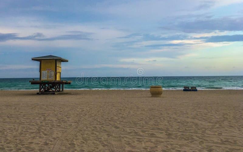 Пляж Hallandale стоковые фото