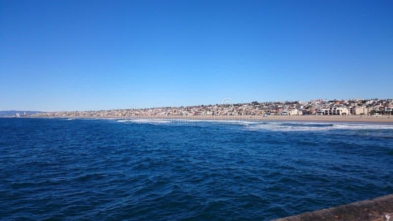 Пляж Hermosa, Калифорния стоковая фотография rf