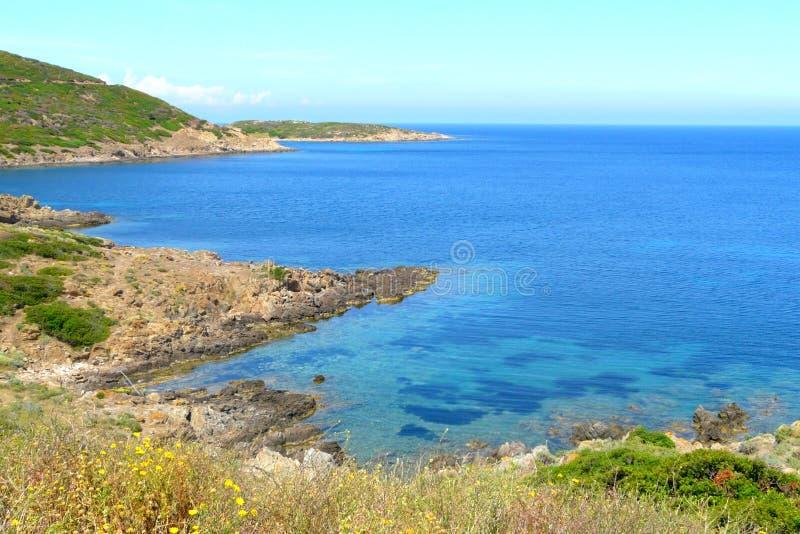 Пляж Idilic в национальном парке острова Asinara, Сардинии, Италии. стоковые изображения