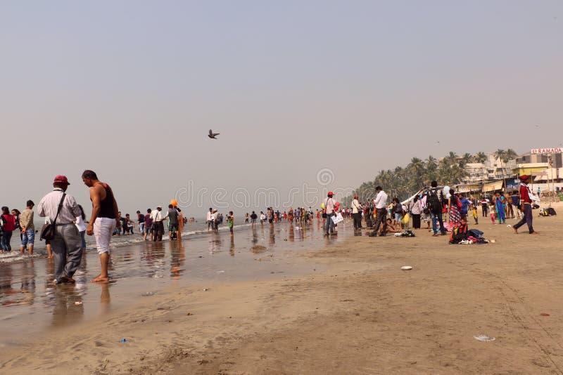 Пляж Juhu, Мумбай стоковые фотографии rf