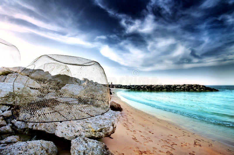 Пляж Jumeirah открытый стоковое изображение