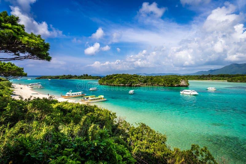 Пляж Kabira тропического рая стоковое изображение