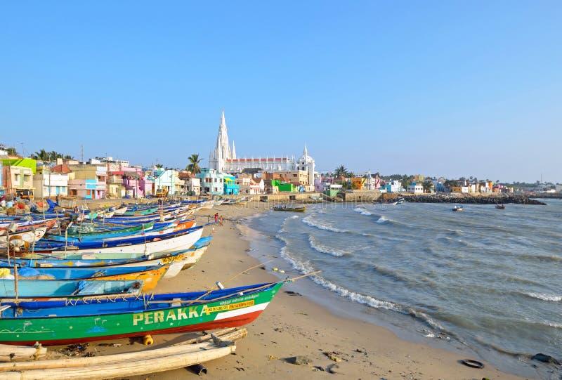 Пляж Kanyakumari стоковые фотографии rf