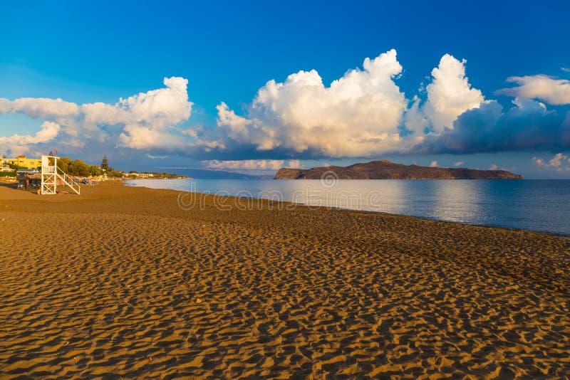 Пляж Kato Stalos, префектура Chania, западный Крит, Греция стоковое изображение