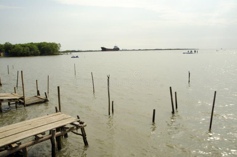 Пляж Kejawanan стоковое изображение