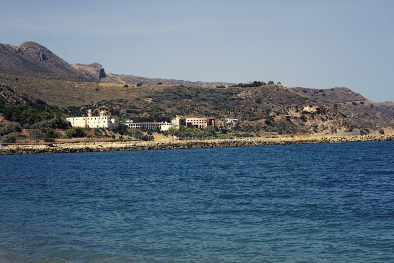 Пляж Kolymvari стоковое изображение rf
