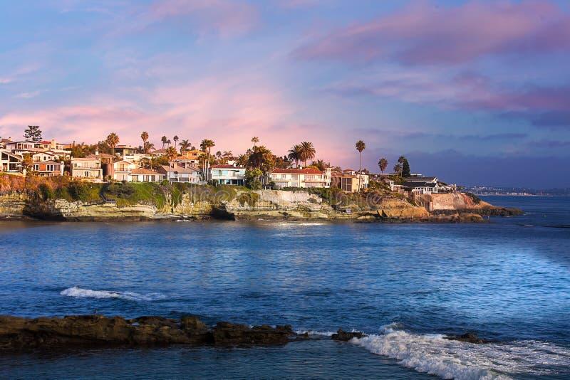 Пляж La Jolla Калифорнии США стоковое фото rf