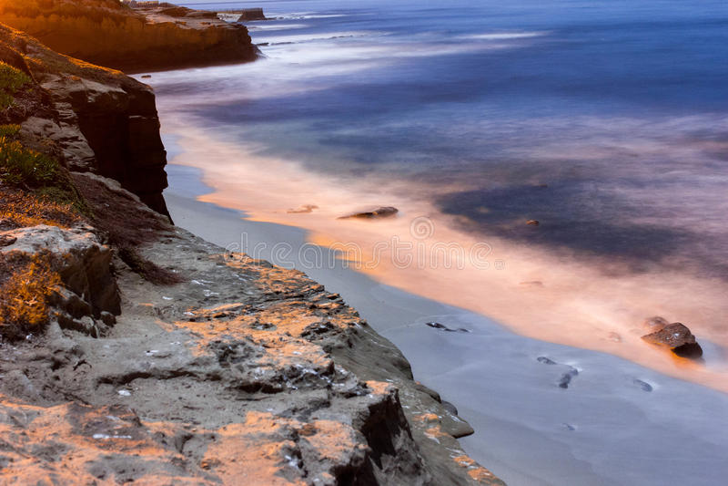 Пляж La Jolla стоковое изображение rf