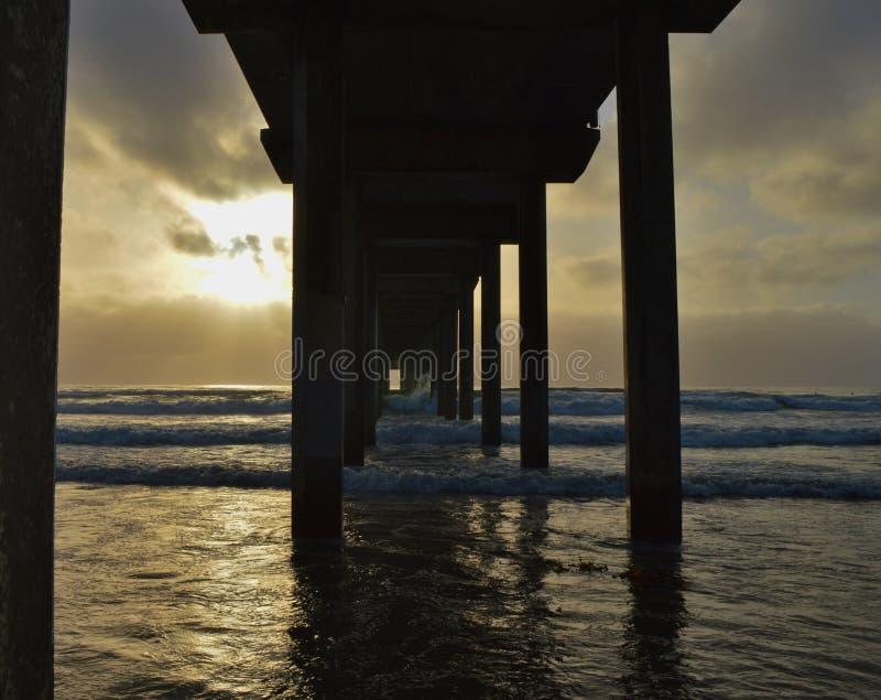 Пляж La Jolla стоковое фото rf
