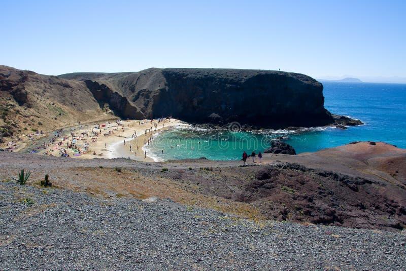 пляж lanzarote стоковые фото