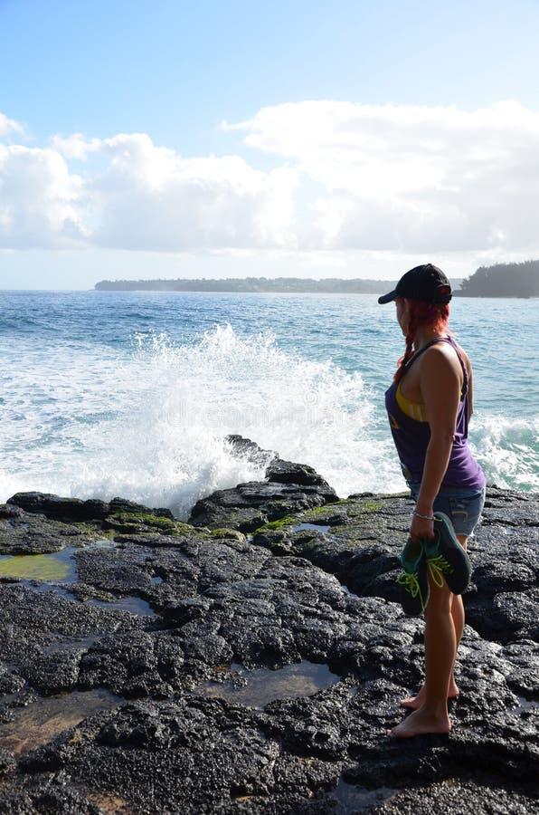 Пляж Lumahai стоковое изображение rf