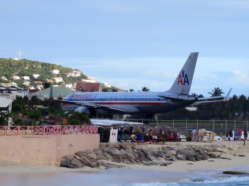 Пляж Maho, Sint Maarten стоковая фотография rf